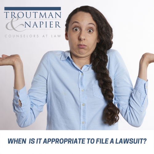 When to file a lawsuit